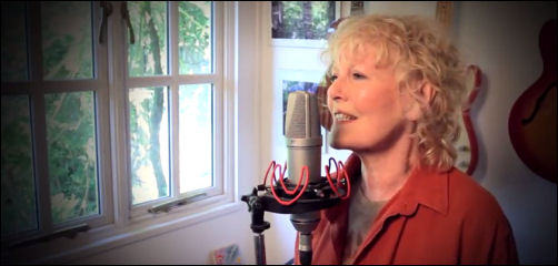 "Petula recording at ""The Wendy House"" in 2012"